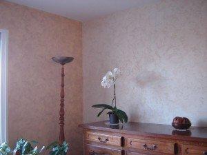 Peinture décorative - effet sablé